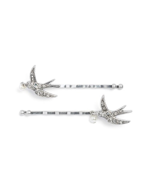Swallow Imitation Pearl Bobby Pins by Marc Jacobs