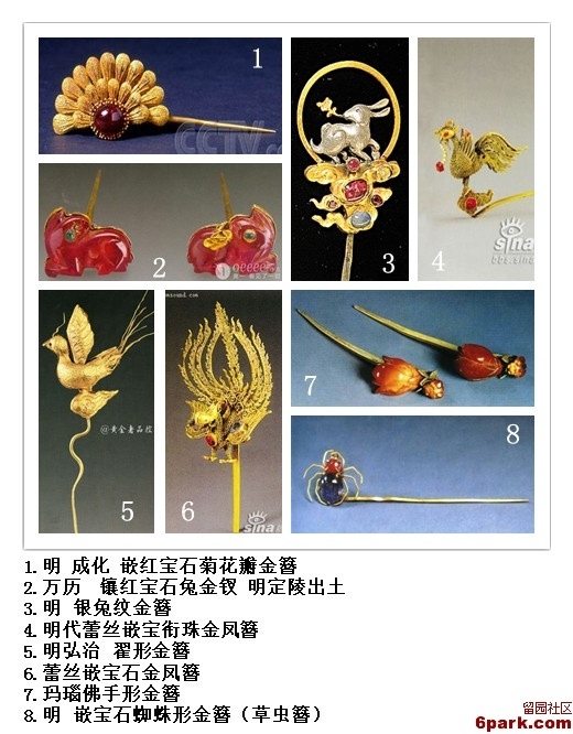 Categories of Traditional Chinese Hair Accessories