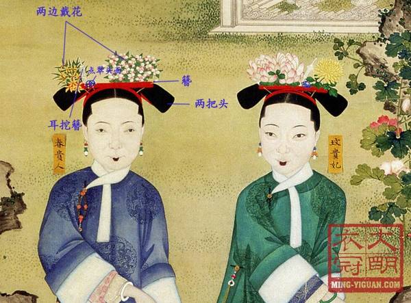Ladies at Emperor Tongzhi's reign, the son of Emperor Xianfeng image source: https://www.zhihu.com/question/28122982 last access 8th September 2016