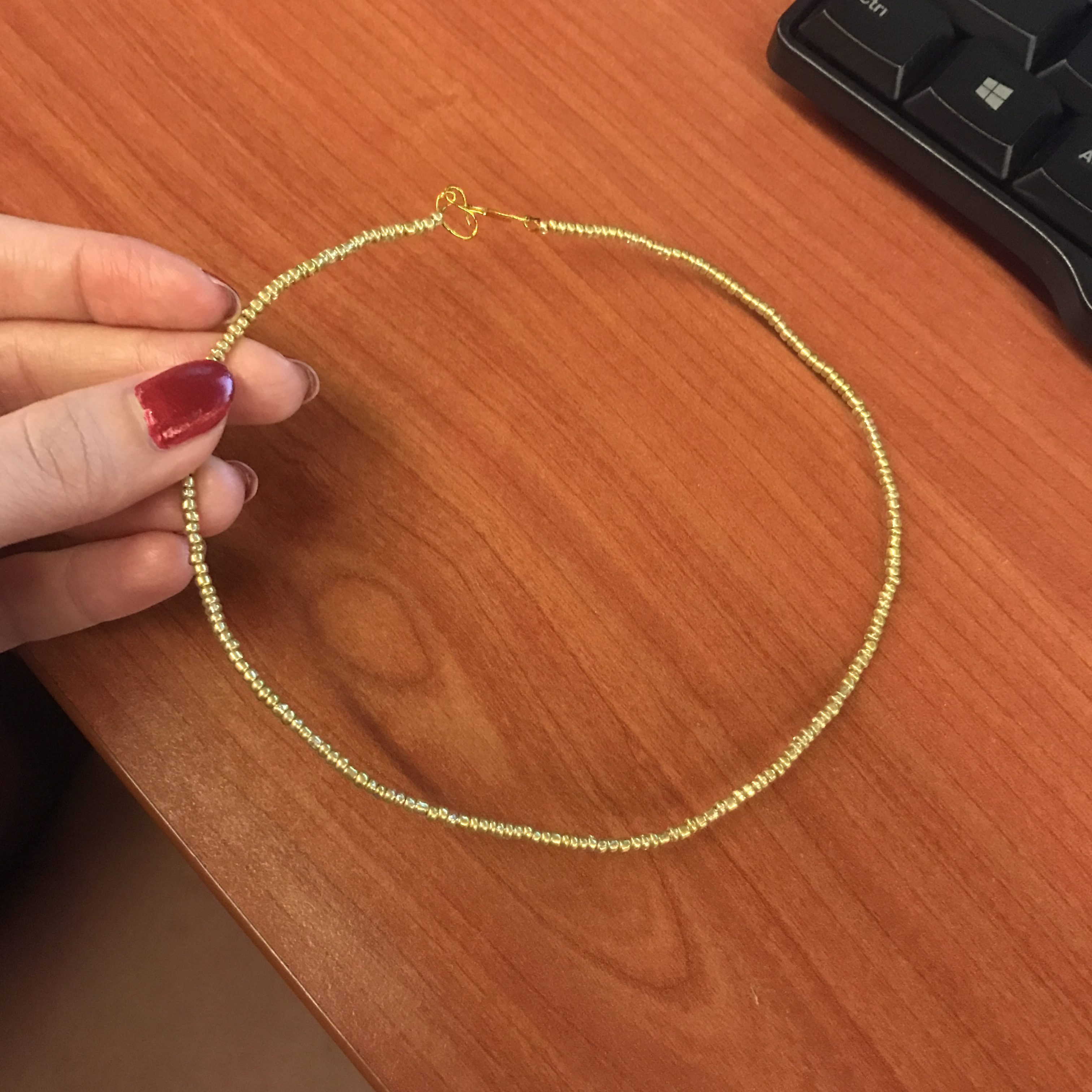 a simple choker I made to fit my neck.