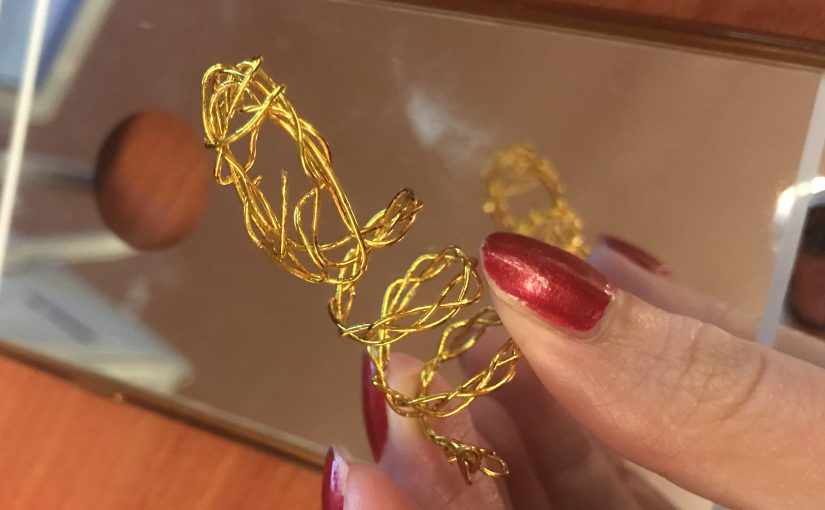 Some simple paper & wire try out for jewelry