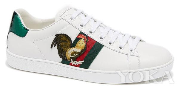 Gucci year of Chicken sneaker image source: http://www.yoka.com/luxury/toptalk/2016/1226/49769201065800_all.shtml#readall_1