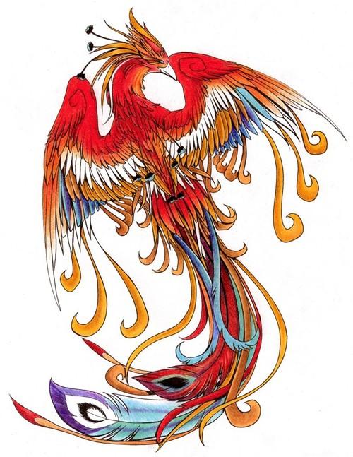 red phoenix image source: http://www.wenshen520.com/fenghuang