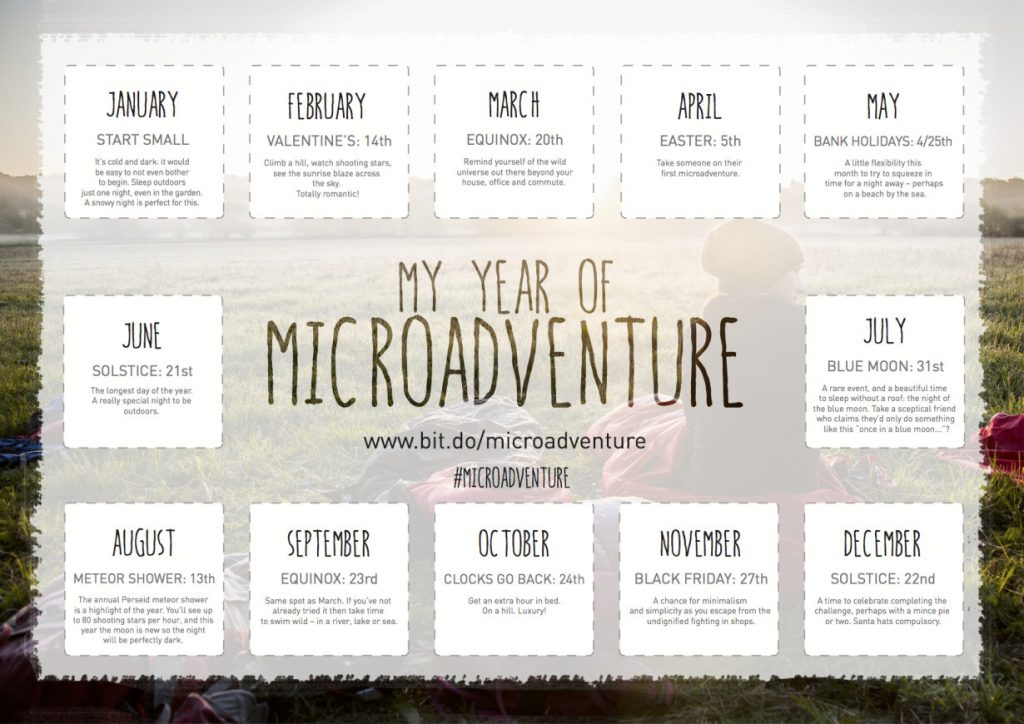 Microadventure Calendar by Alastair