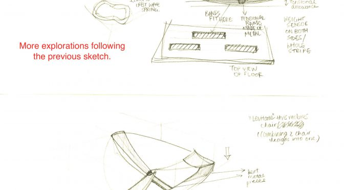Modified Seating Area in Sketches