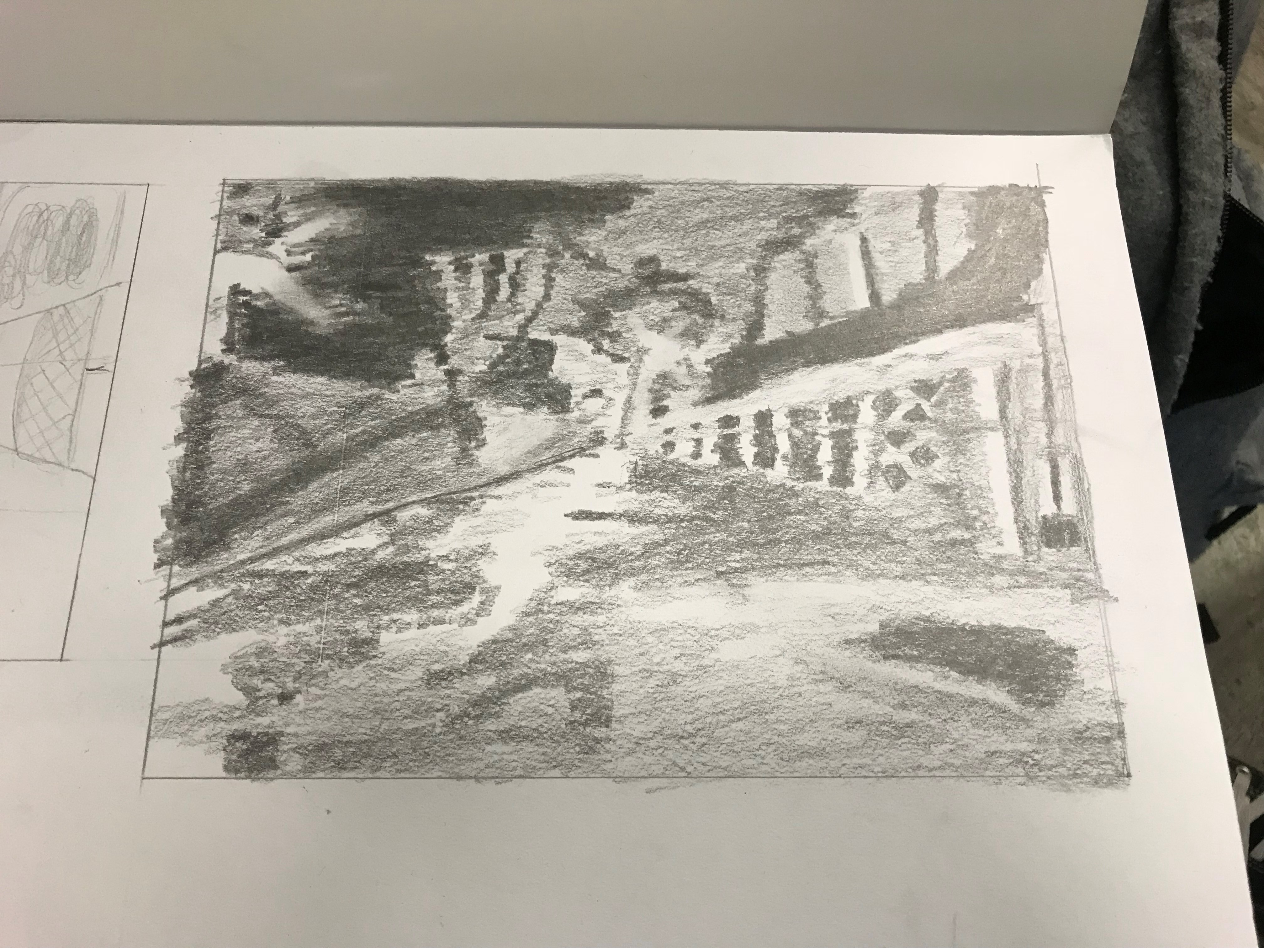 Foundation Drawing – Final Assignment process and final