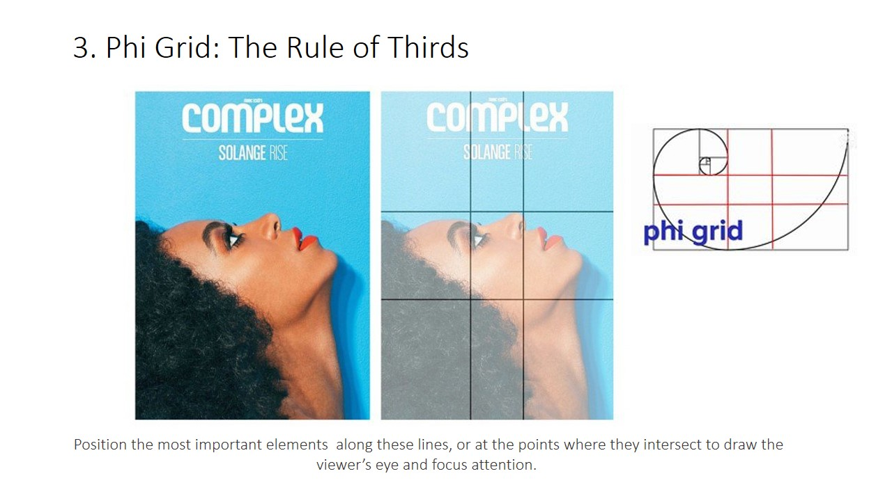 Application of phi grid. Similar to the rules of Thirds which you position the most important elements along these lines, or at the points where they intersect to draw the viewer's eye and attention. It creates tension, adds interest and energy to your composition.