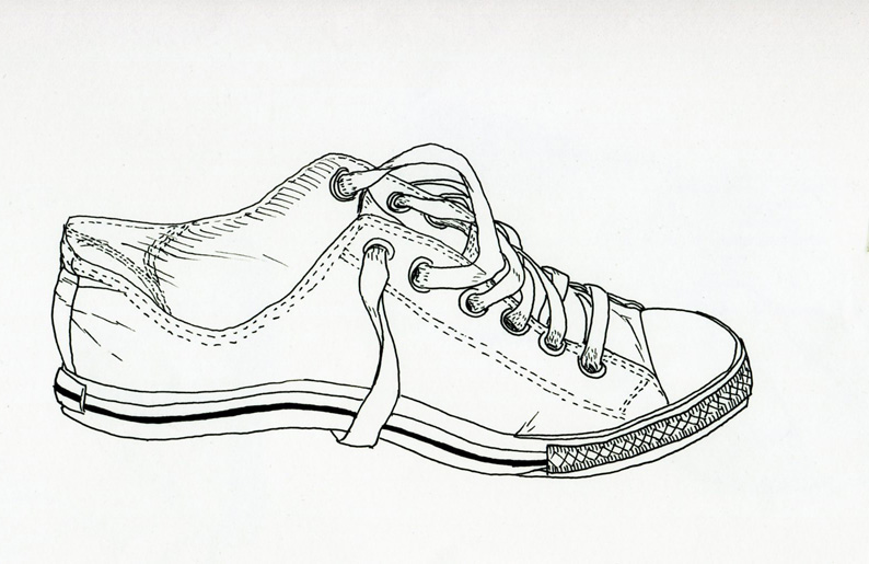 Contour Line Drawing Of Shoes : Week one contour drawing my site