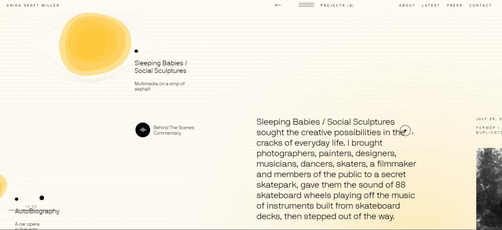 Example: Erika Senft Miller's Portfolio Site