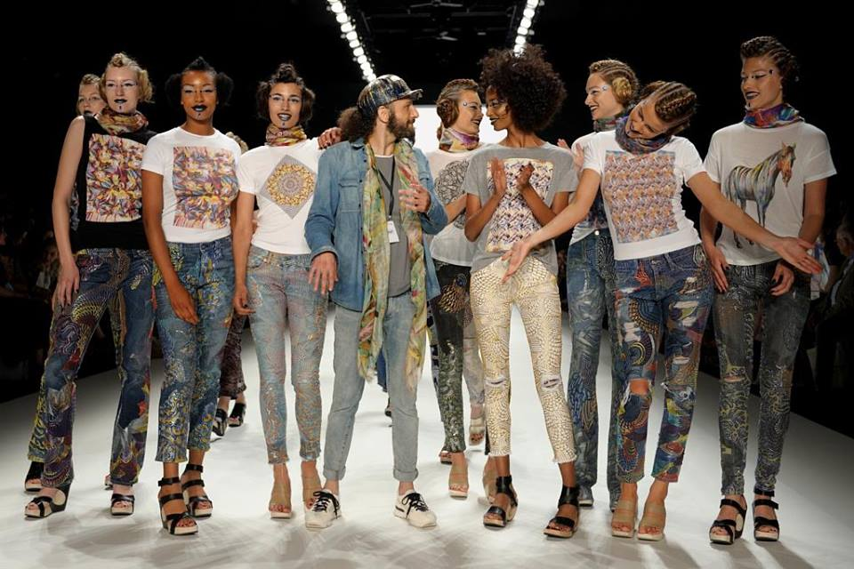 Artistically modified jeans from celebrities by Johny Dar